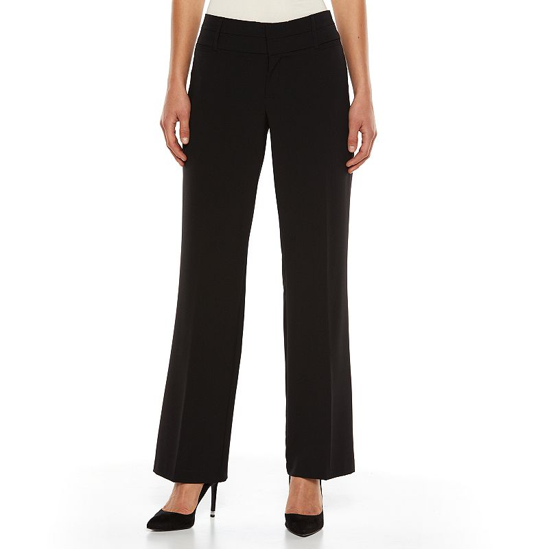 AB Studio Magic-Waist Straight-Leg Dress Pants - Women's