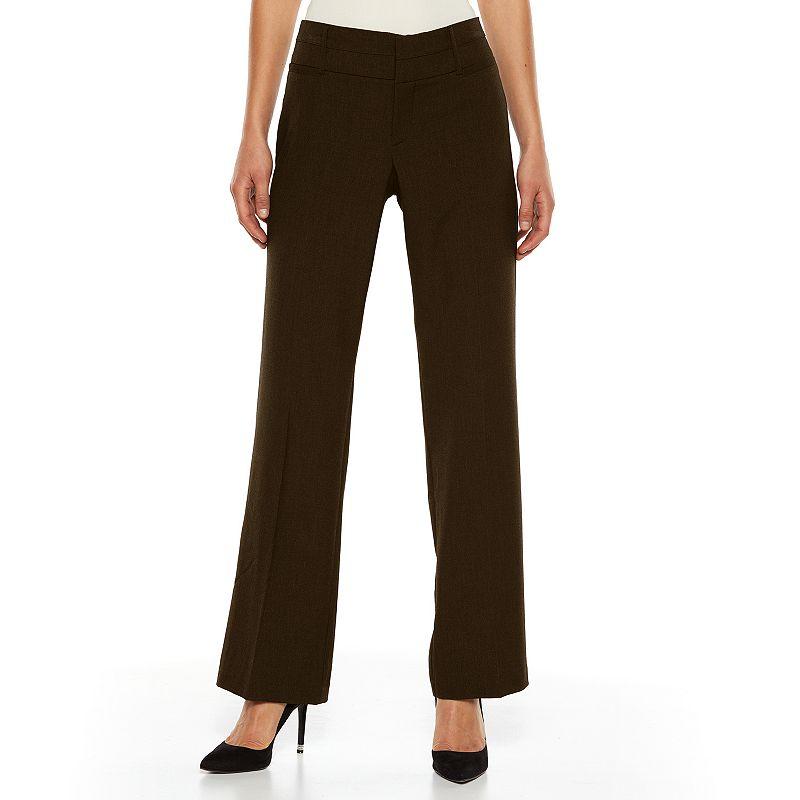 AB Studio Magic-Waist Straight-Leg Dress Pants - Women's