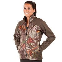 Women's Huntworth Lifestyle Camo Fleece-Lined Soft Shell Hiking Jacket
