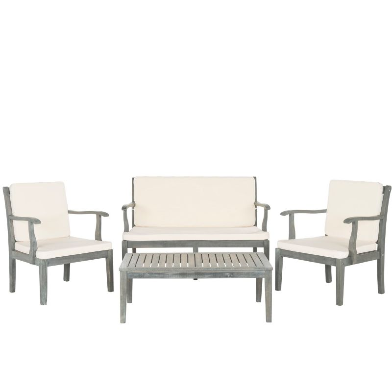 SAFAVIEH FRESNO 4 PC OUTDOOR LIVING SET