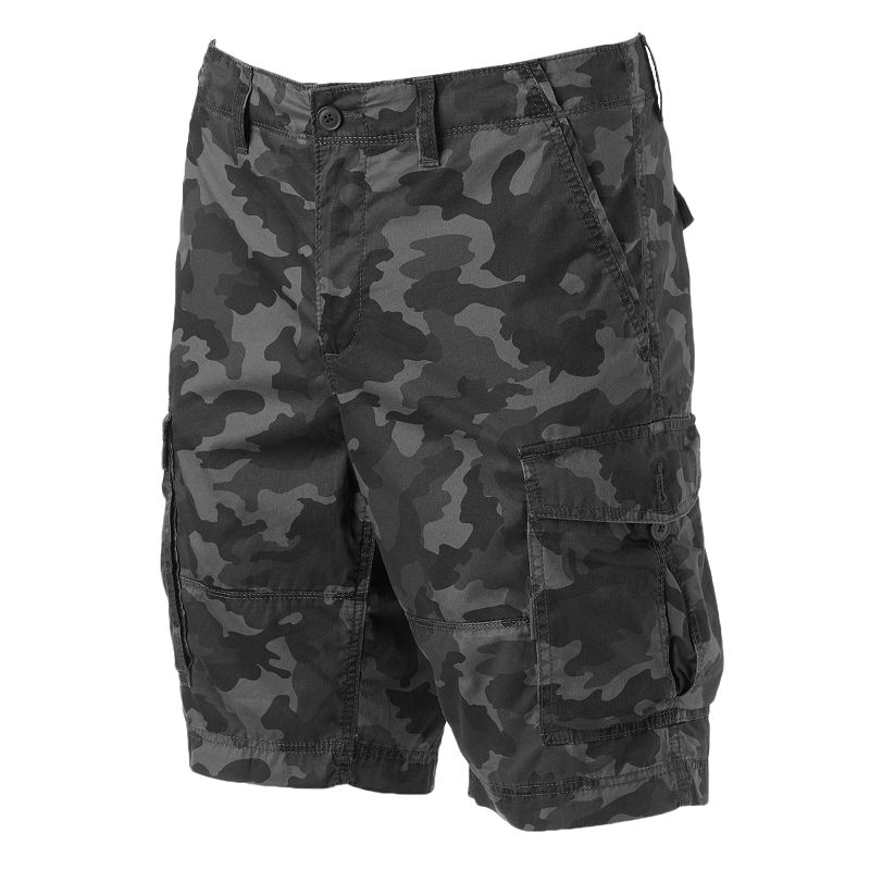 Men's SONOMA Goods for Life™ Lightweight Herringbone Camo Cargo Shorts