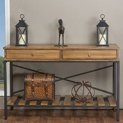 Baxton Studio Newcastle Crisscross Console Table  by
