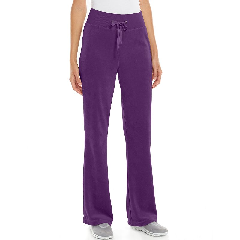 Model  Wear Lounge Pants  Stretch French Terry Cotton For Women In Ruby
