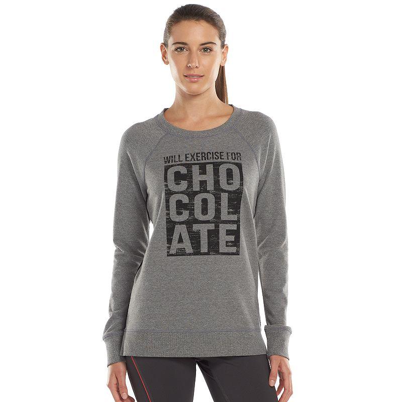 Women's Tek Gear® Graphic French Terry Workout Sweatshirt