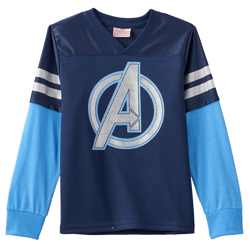Marvel Avengers Varsity Striped Football Jersey - Boys 4-7