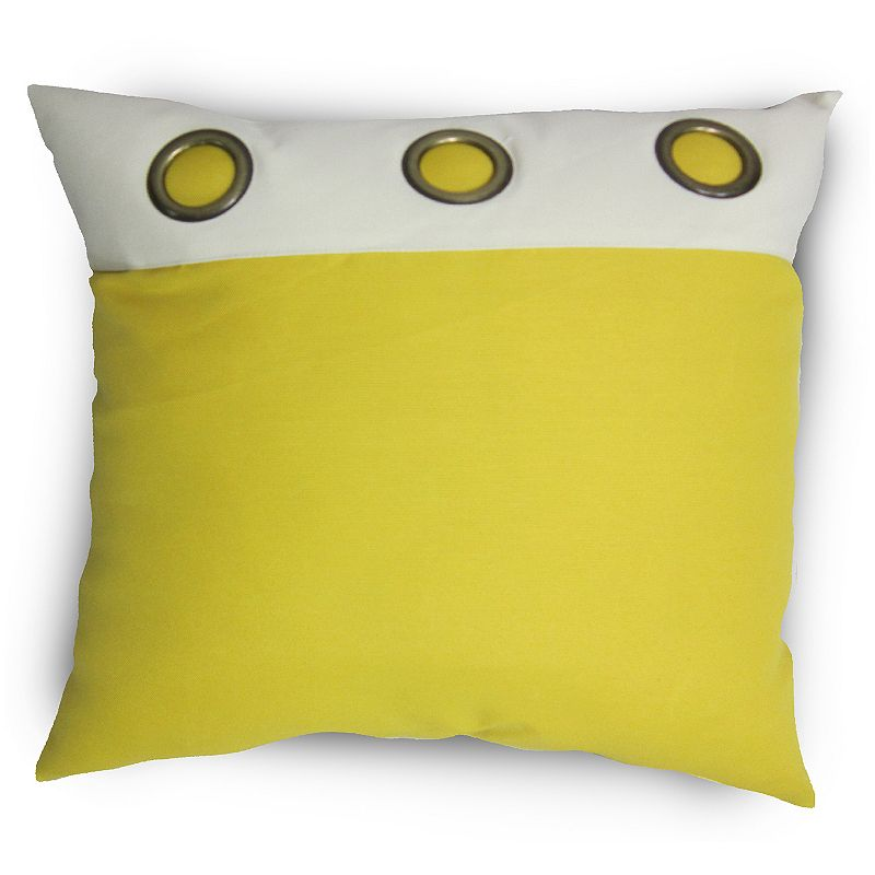 Home Fashions International Outasight Grommets Indoor Outdoor Throw Pillow DealTrend
