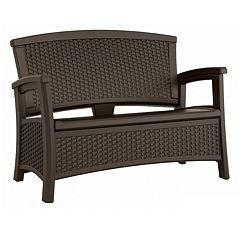 Suncast Elements Outdoor Storage Loveseat  by