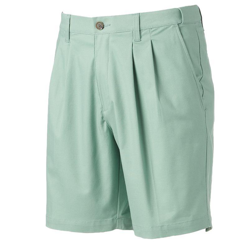 Men's Croft & Barrow® Stretch Easy-Care Flex-Waistband Pleated Shorts