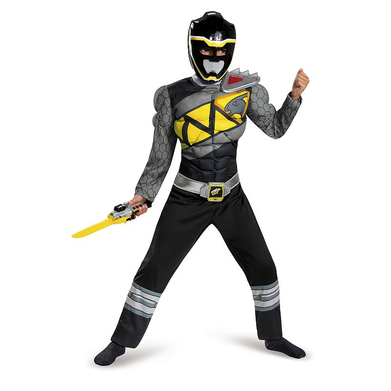 Power Rangers Dino Charge Black Ranger Muscle Costume - Kids