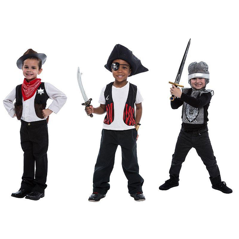 Knight, Sheriff & Pirate Deluxe Dress Up Set - Kids