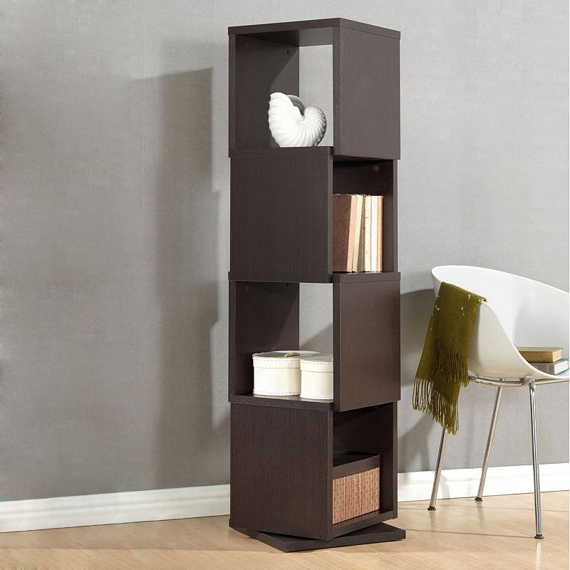 Baxton Studio Ogden Designer 4-Shelf Bookcase