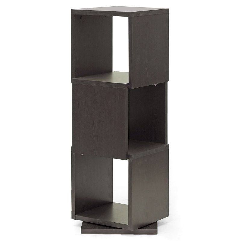 Baxton Studio Ogden Designer 3-Shelf Storage Bookcase