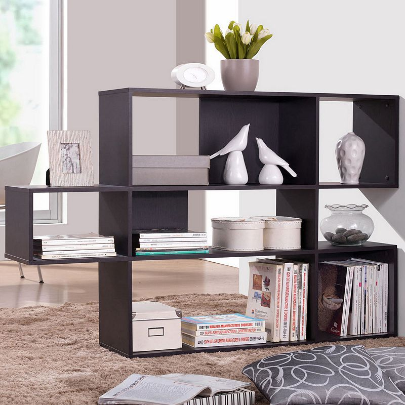 Baxton Studio Lanahan Designer 3-Shelf Display Bookcase