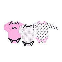 Cutie Pie Baby Girl 3-pk. Puppy Bodysuits