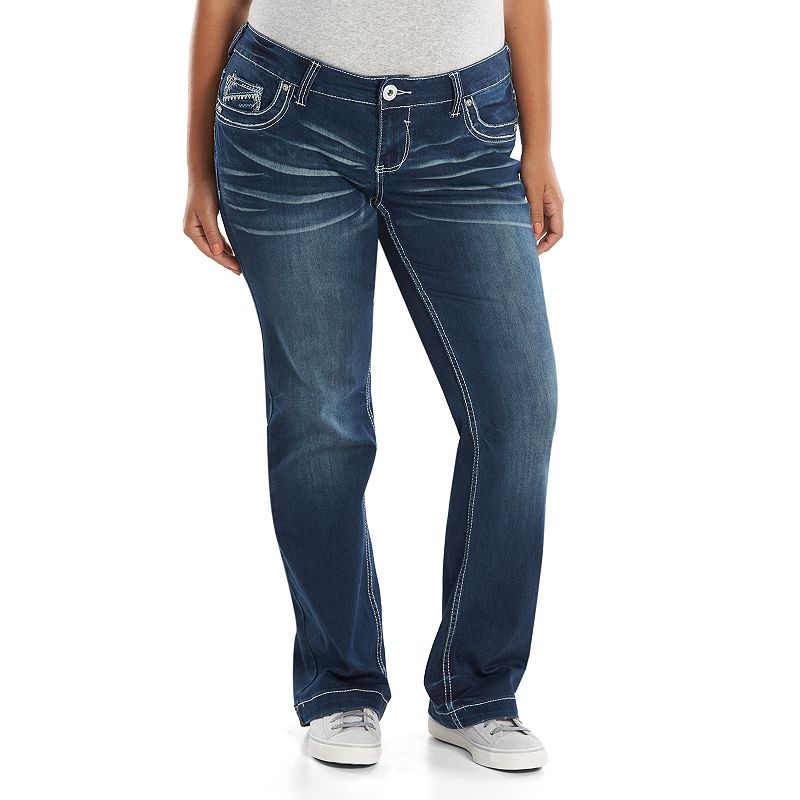 Juniors' Plus Size Amethyst 5-Pocket Supersoft Bootcut Jeans