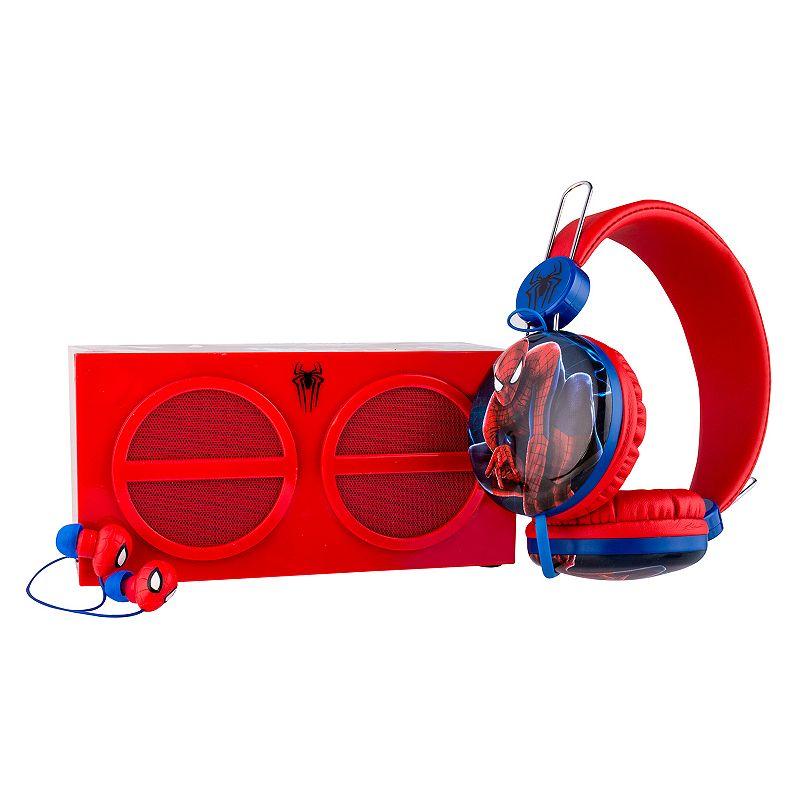 Marvel Spider-Man 3-Piece Stereo Speaker & Headphone Set by Sakar
