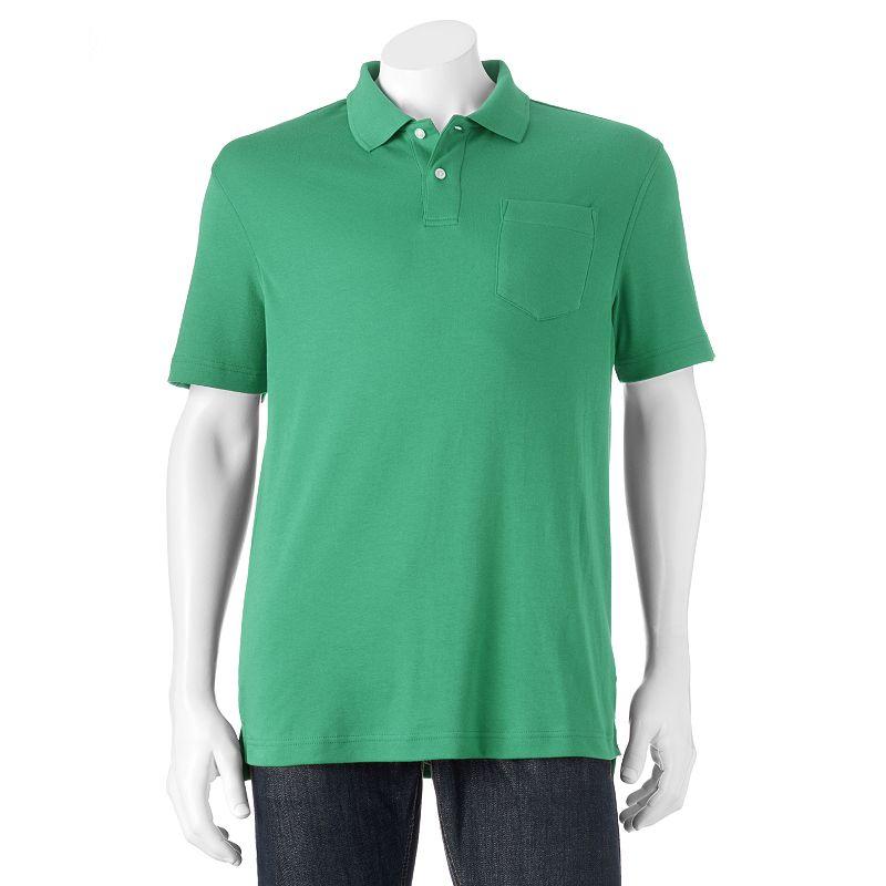 Men's Croft & Barrow Interlock Easy Care Tailored-Fit Polo