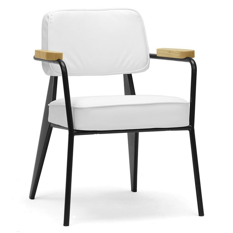 Baxton Studio Lassiter Faux-Leather Accent Chair