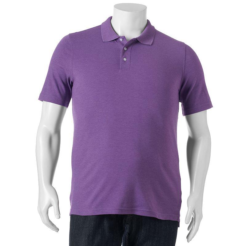 Men's Croft & Barrow® Interlock Easy Care Solid Polo