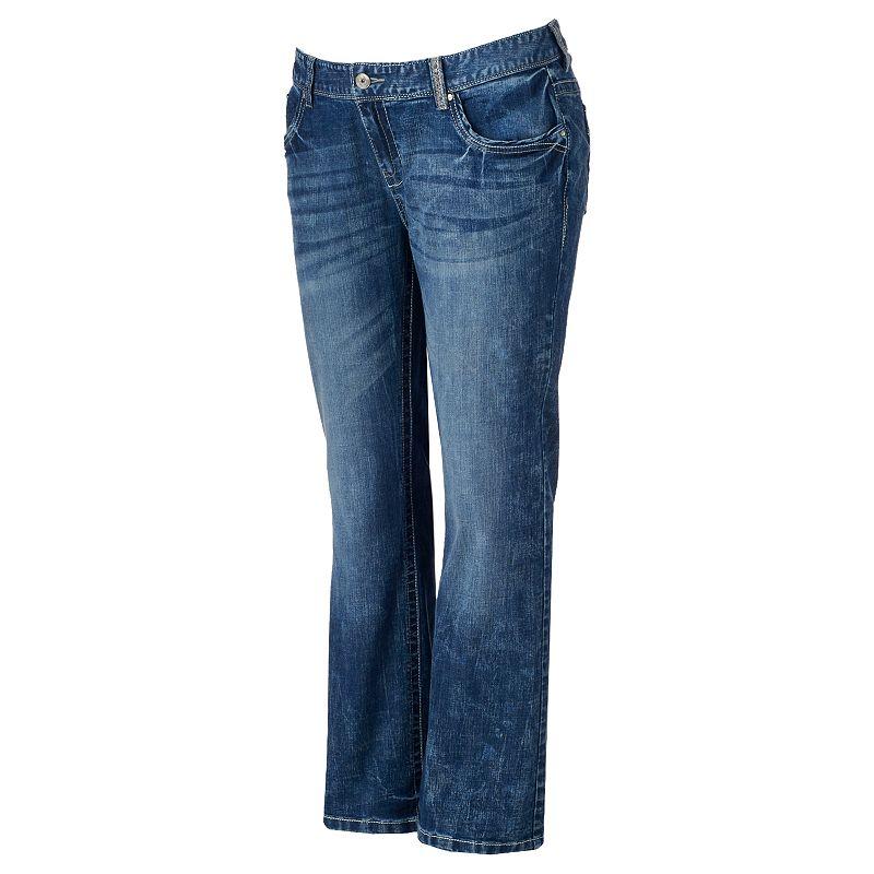 Juniors' Plus Size Series 31 5-Pocket Hourglass Bootcut Jeans