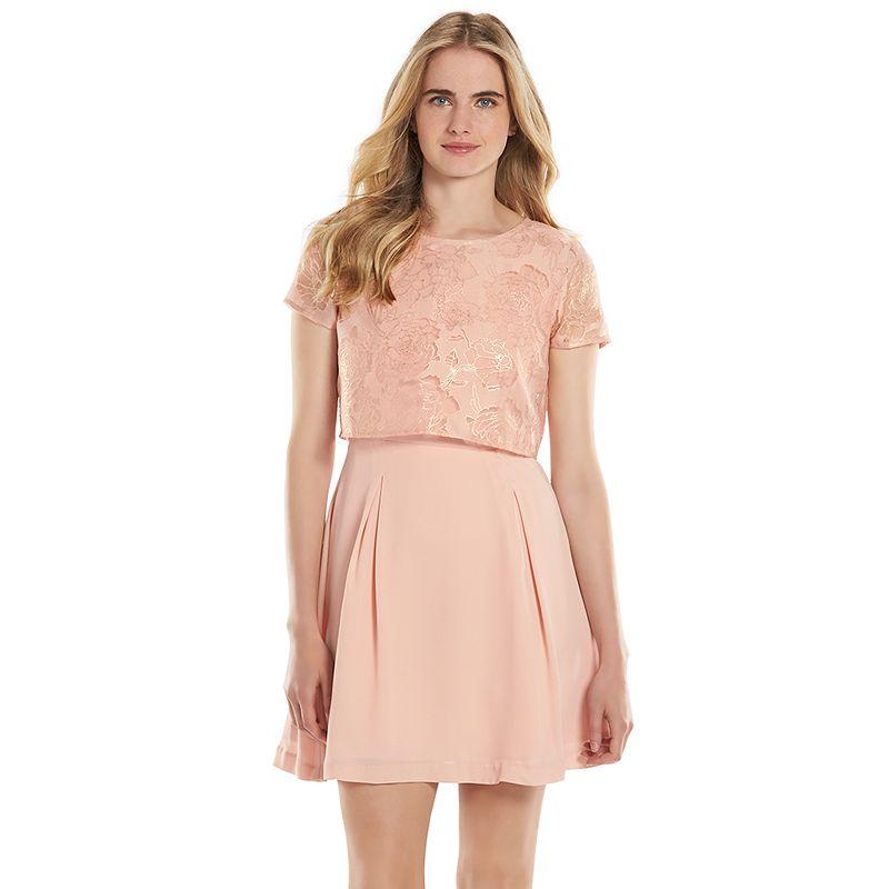 LC Lauren Conrad Floral Popover Dress - Women's