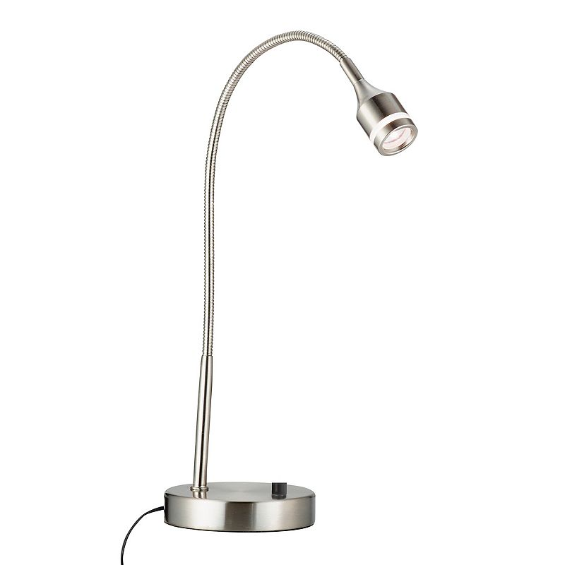 Adesso Prospect Brushed Steel LED Desk Lamp