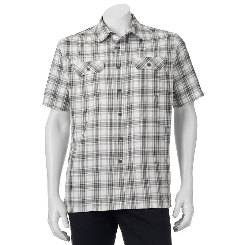 Men's Croft & Barrow® Quick-Dry Easy-Care Plaid Button-Down Shirt