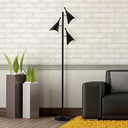 Adesso draper tree floor lamp for Draper 3 light tree floor lamp