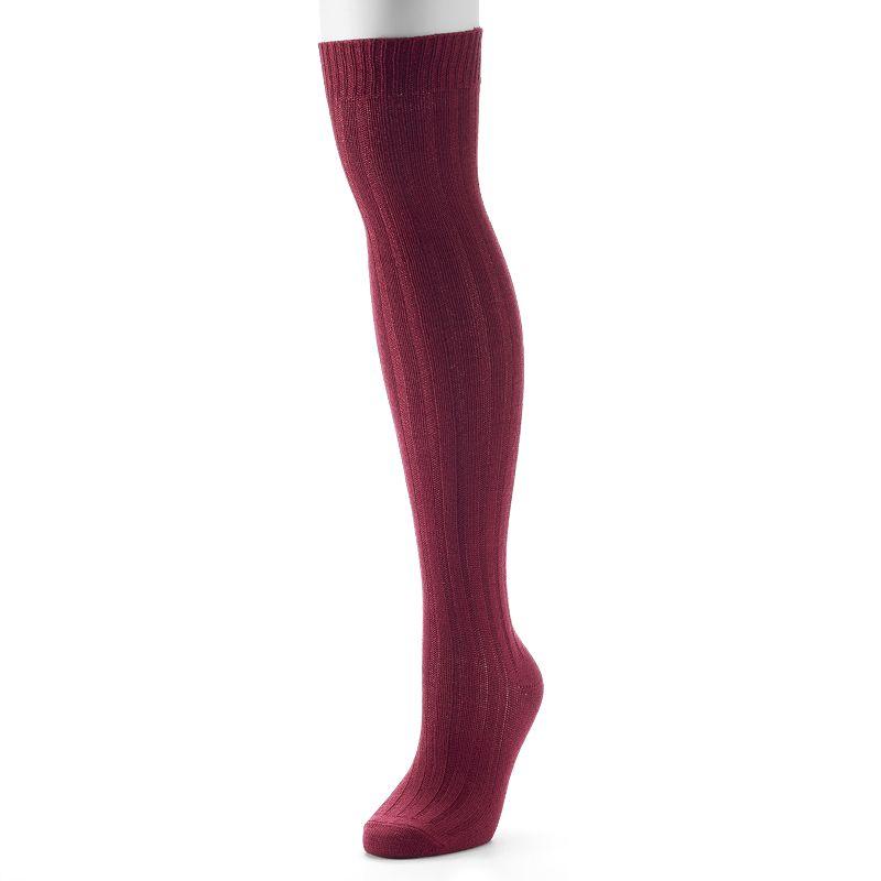 Apt. 9® Ribbed Over-The-Knee Socks - Women