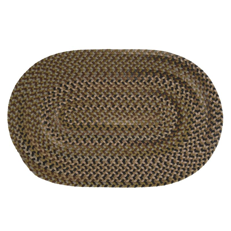 Colonial Mills Huntington Braided Reversible Wool Rug, Green thumbnail