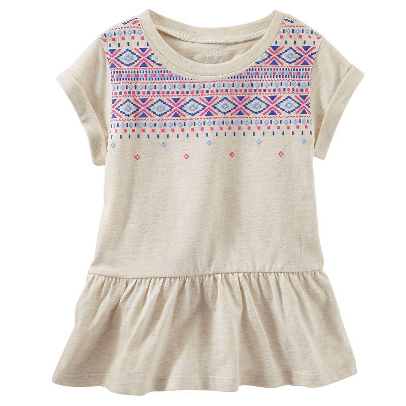 Toddler Girl OshKosh B'gosh® Tribal Peplum Tunic