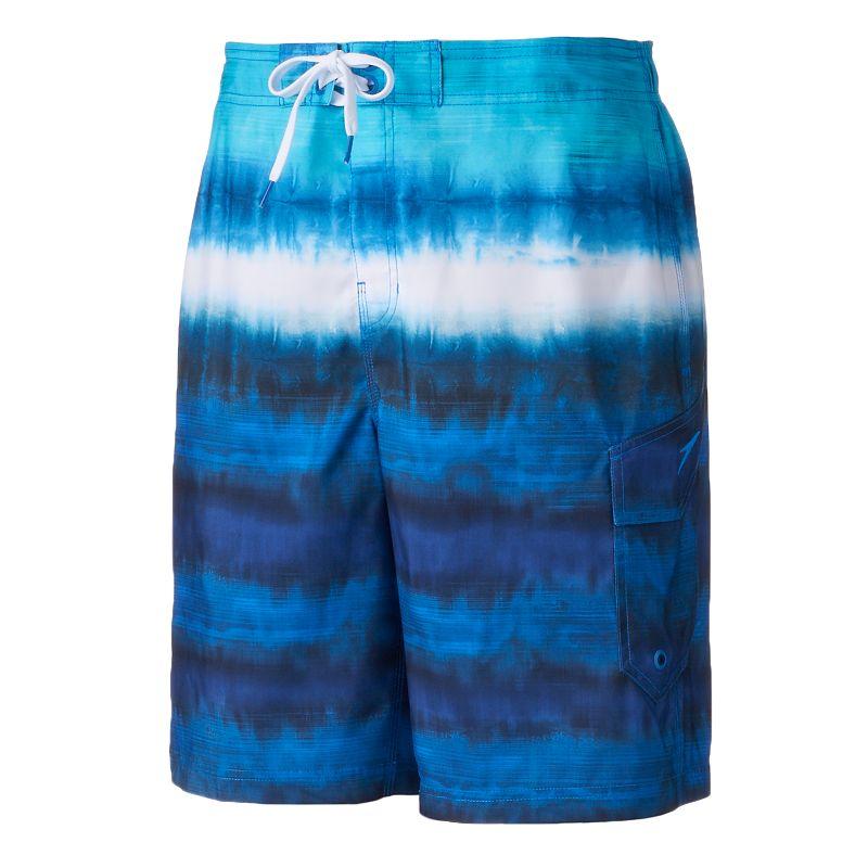 Men's Speedo Tie-Dye Striped E-Board Shorts