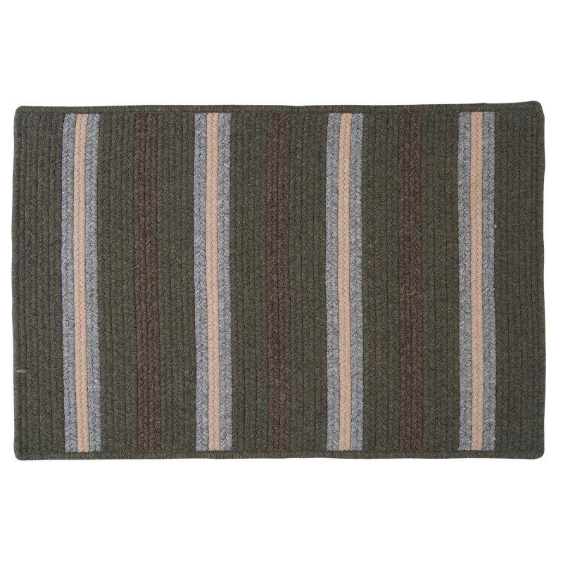 Colonial Mills Hunter Stripe Braided Reversible Rug, Green thumbnail
