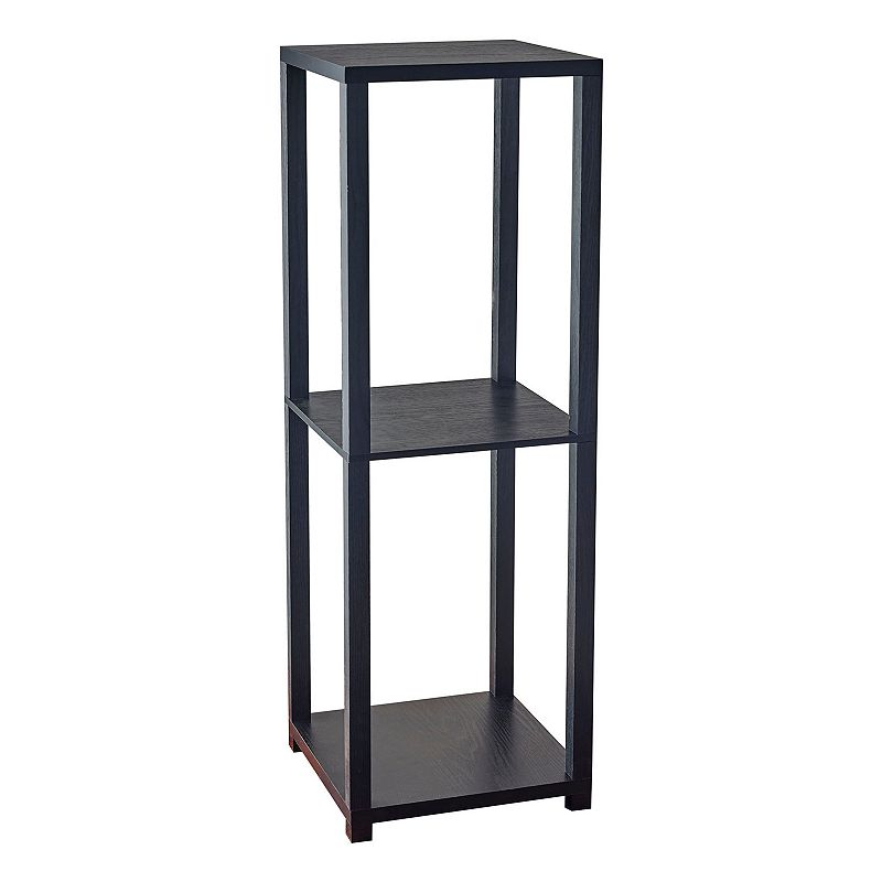 ADESSO LAWRENCE TALL PEDESTAL END TABLE (BLACK)
