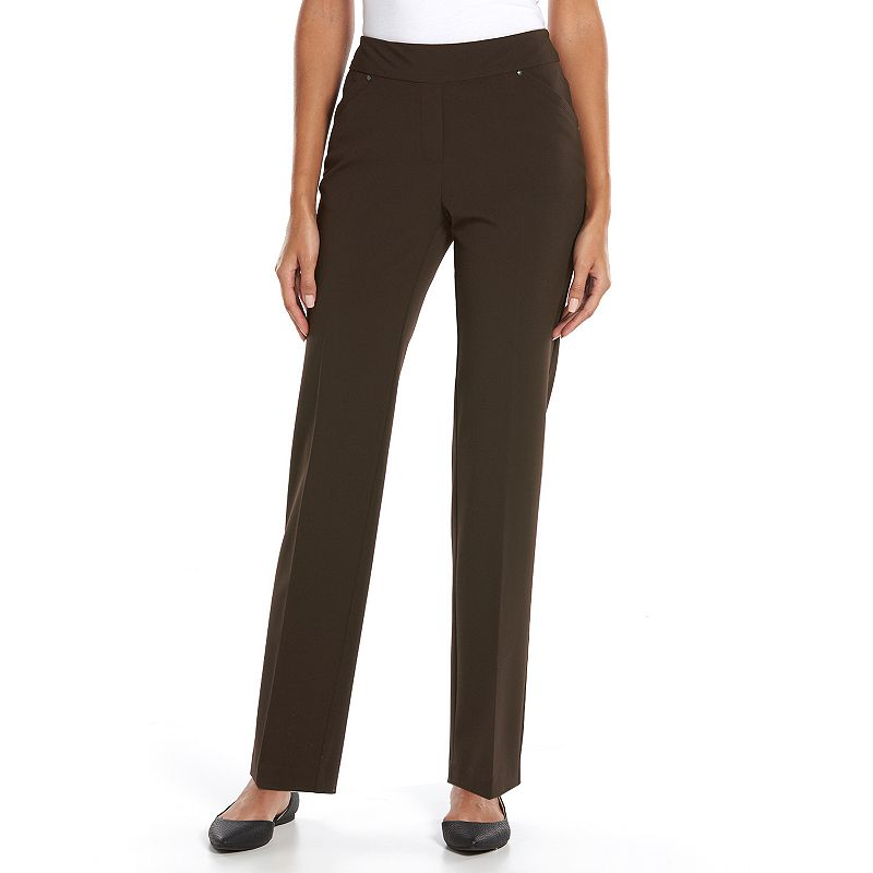 Women's Sag Harbor Slimming Straight-Leg Pull-On Dress Pants