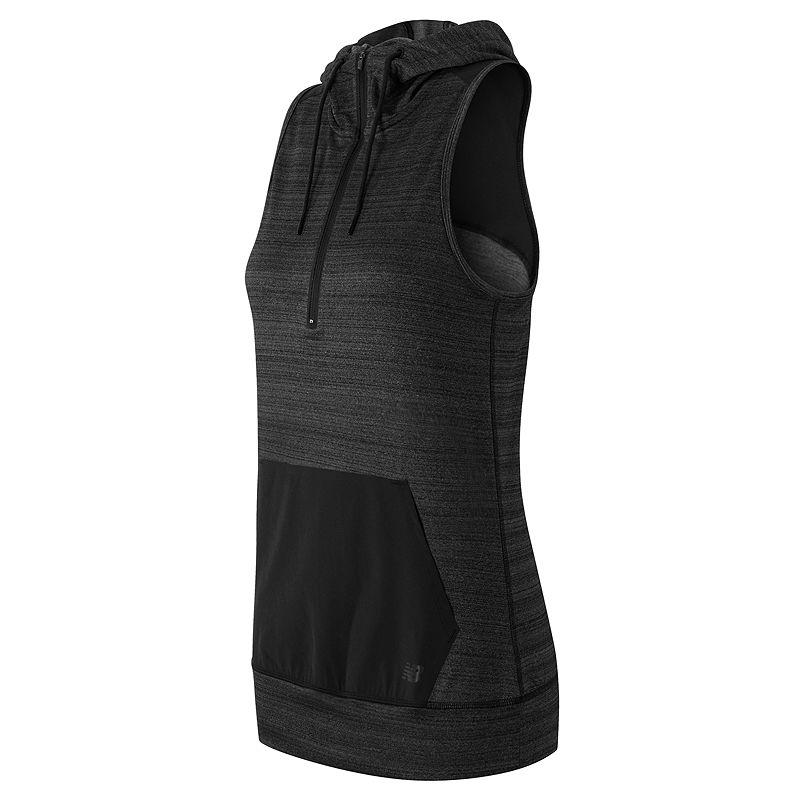 Women's New Balance Hooded Half-Zip Performance Fleece Vest