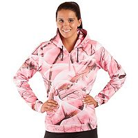 Huntworth Pink Camo Quarter-Zip Fleece Hiking Hoodie - Women's