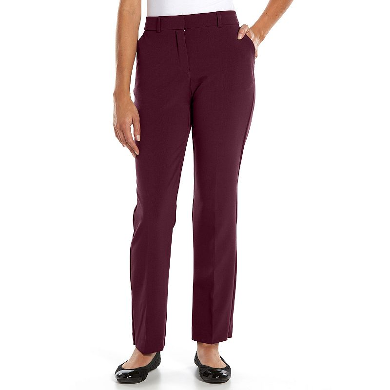 Petite Sag Harbor Straight-Leg Dress Pants