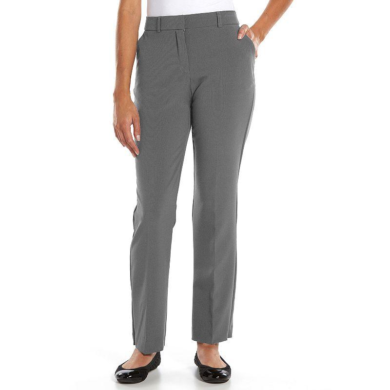 Petite Sag Harbor Straight-Leg Dress Pants