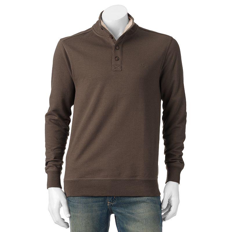Big & Tall Dockers Mockneck Sherpa-Fleece Sweatshirt