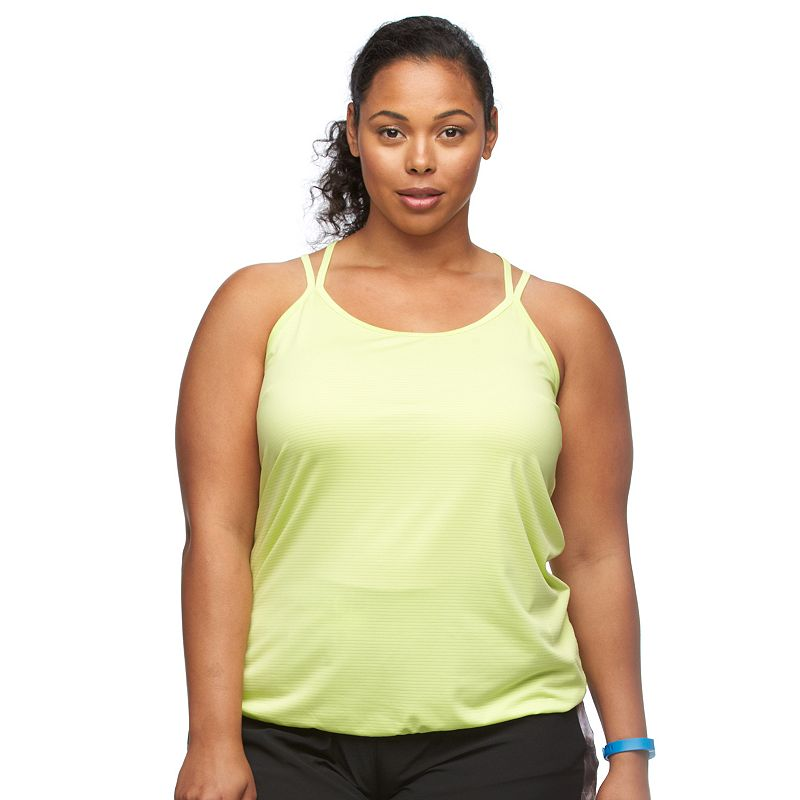 Plus Size Tek Gear® Ribbed Racerback Tank
