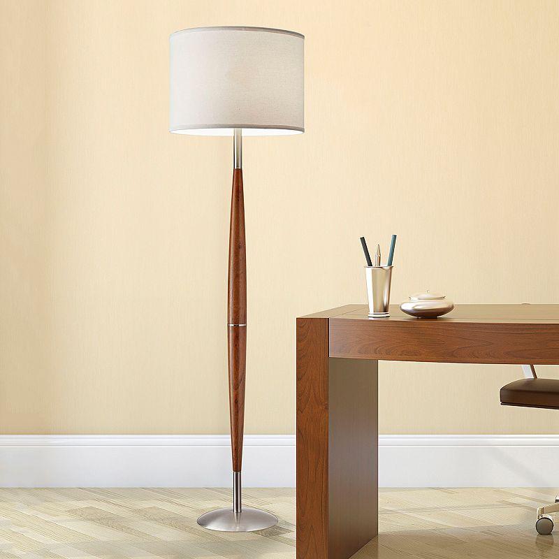 adesso hudson floor lamp brown. Black Bedroom Furniture Sets. Home Design Ideas
