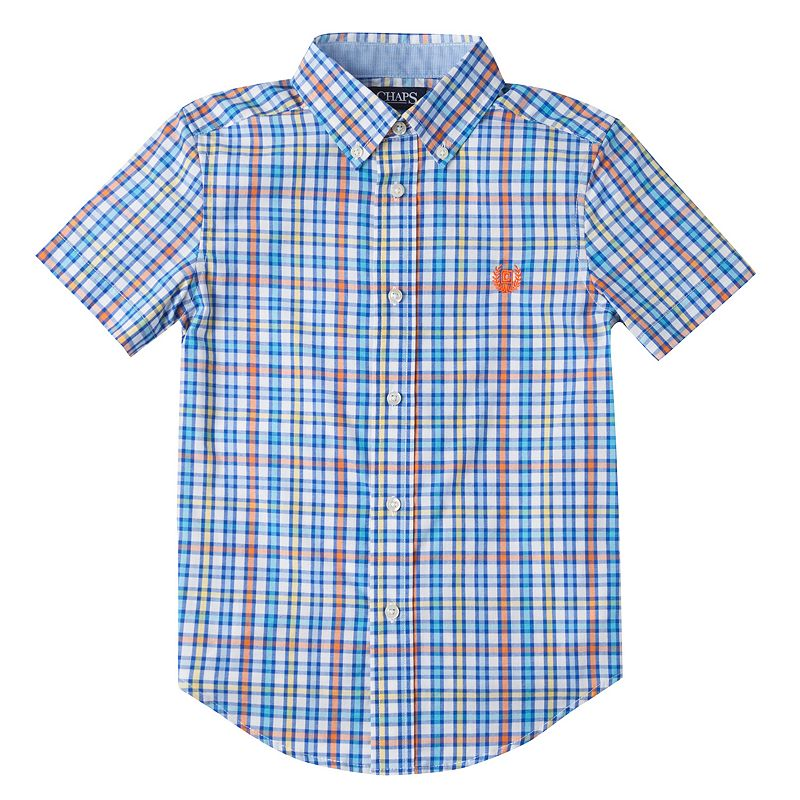 Chaps plaid short sleeves shirt kohl 39 s for Chaps shirts on sale