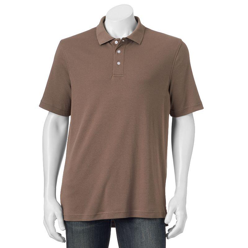 Big & Tall Croft & Barrow® Interlock Solid Polo