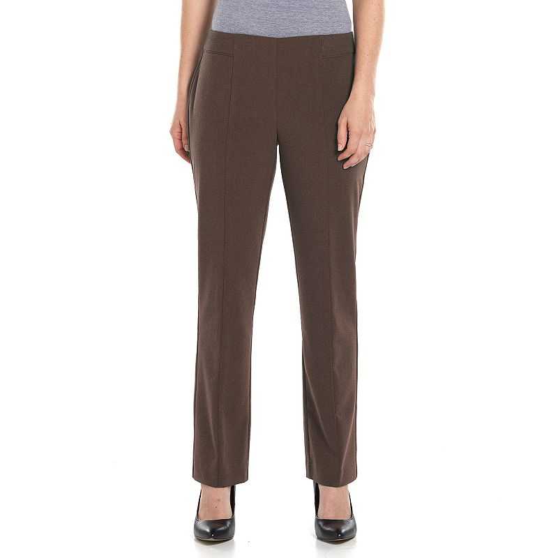 Petite Sag Harbor Straight-Leg Pull-On Dress Pants