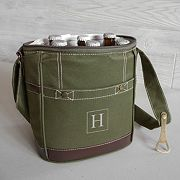 Cathy's Concepts Monogram 6-pack Green Beer Bottle Cooler