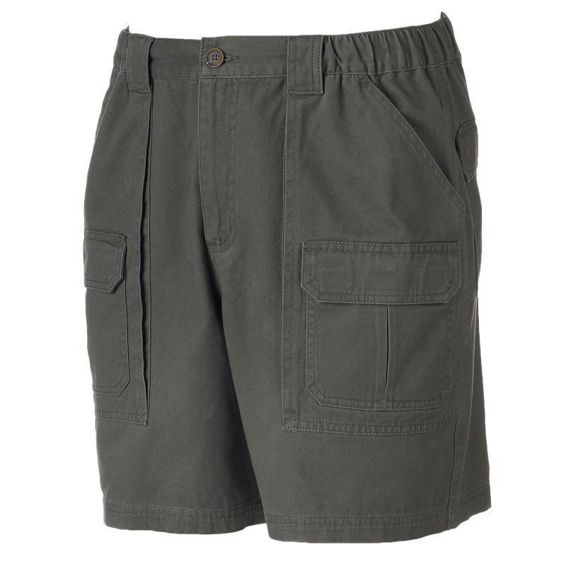Big & Tall Croft & Barrow® Twill Side Elastic Cargo Shorts