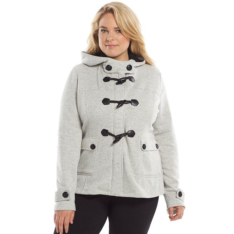Plus Size Sebby Fleece Toggle Jacket