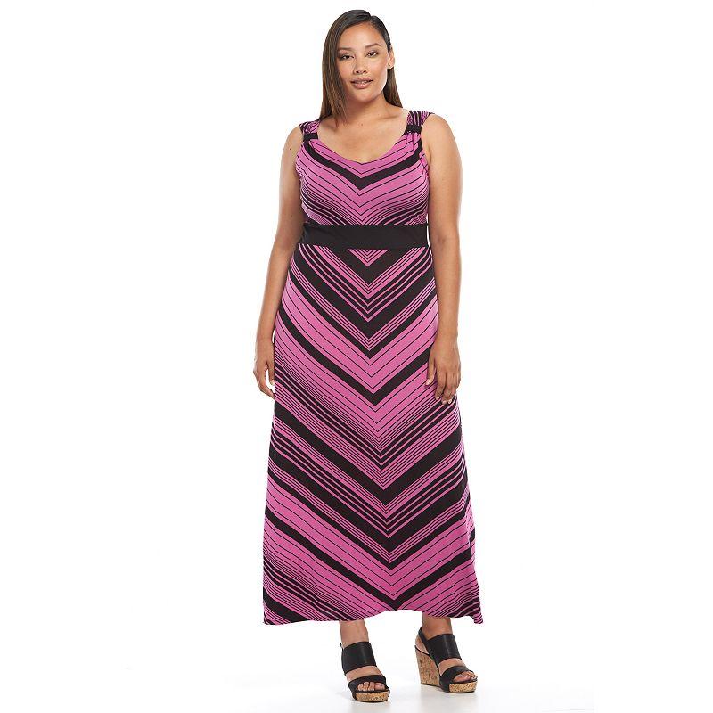 Plus Size Apt. 9 Striped Maxi Dress, Pink