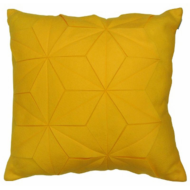 Kohls Yellow Throw Pillows : COMPASS ORIGAMI THROW PILLOW (YELLOW)